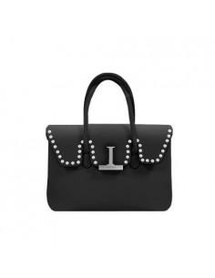 Mia Bag borsa due manici Emma colore nero con perle