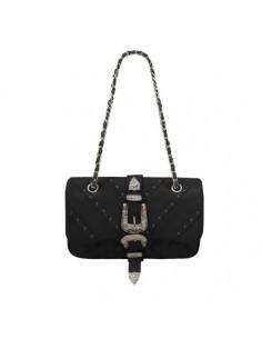 Mia Bag tracolla Texas termoformata con borchie, colore nero