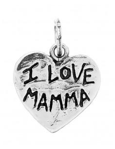 """Charm Giovanni Raspini cuore """"I love mamma"""""""