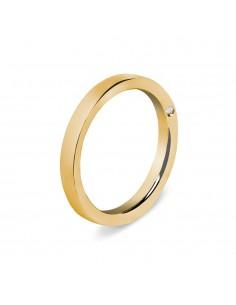 fede matrimoniale ARTLINEA oro rosa 18kt con diamante