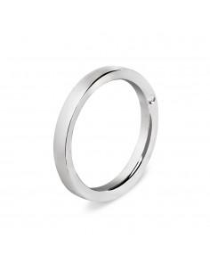 fede matrimoniale ARTLINEA oro bianco 18kt con diamante