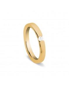 fede matrimoniale ARTLINEA semplice oro rosa 18kt con diamante