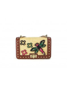 tracollina LA CARRIE BAG Dragonfly Ecopelle Cuoio