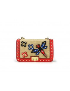 tracollina LA CARRIE BAG Dragonfly Ecopelle Red