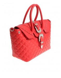 Mia Bag Due Manici Texas con borchie - Rosso
