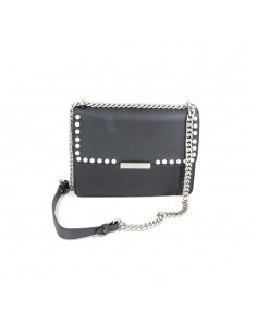 Mia Bag Tracolla Mia con perle - Nero