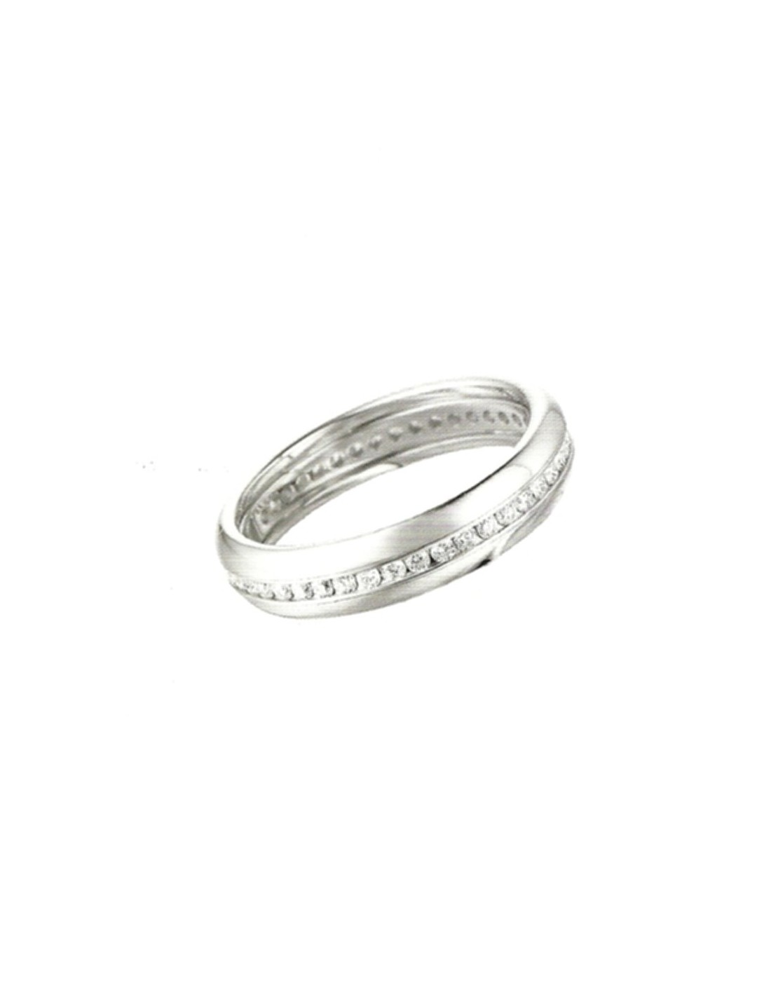 fede matrimoniale polello eternity oro 18 kt diamanti 0 43 kt