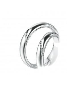 fede matrimoniale POLELLO Oro Bianco 18 kt