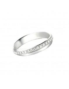 fede matrimoniale POLELLO Oro Bianco 18 kt Diamanti 0,38 kt