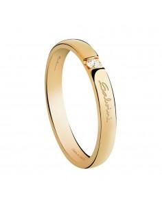 Fede Matrimoniale First Date SALVINI Oro Giallo 18 kt con diamante 0,025 Ct.