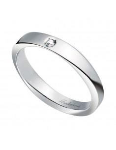 Fede Matrimoniale Infinity SALVINI Oro Bianco 18 kt con diamante 0,02 kt