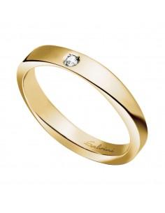 Fede Matrimoniale Infinity SALVINI Oro Giallo 18 kt con diamante 0,02 kt