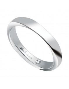 Fede Matrimoniale Infinity SALVINI Oro Bianco 18 kt con diamante 0,006 kt