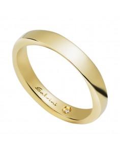 Fede Matrimoniale Infinity SALVINI Oro Giallo 18 kt con diamante 0,006 kt