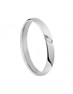 Fede Matrimoniale Special Day SALVINI Oro Bianco 18 kt con diamante 0,02 kt