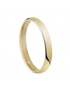 Fede Matrimoniale Special Day SALVINI Oro Bianco 18 kt con diamante 0,005 kt