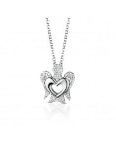 Collana ANGELI di ROBERTO GIANNOTTI con pendente angelo in argento e cuore