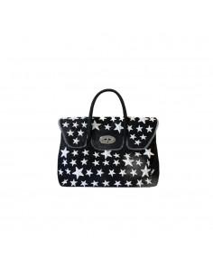 Mia Bag Due manici con borchie a stella a contrasto - Nero