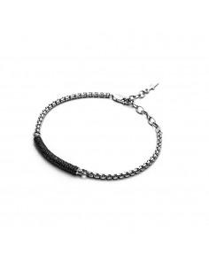 Bracciale argento CESARE PACIOTTI Black Jar 18 cm