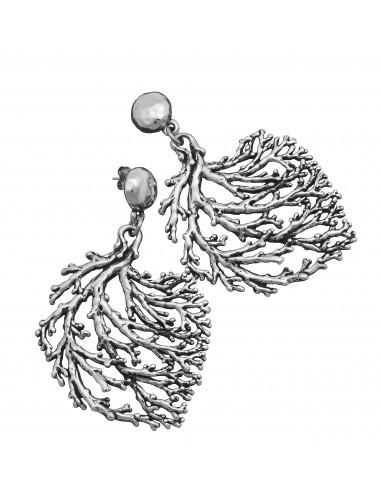 orecchini argento coral grandi Giovanni Raspini