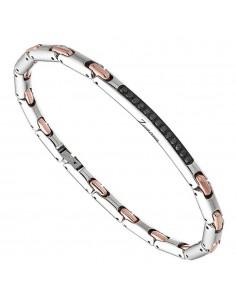 bracciale in acciaio HITECH ZANCAN con SPINELLI NERI