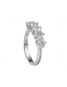 SALVINI anello veretta in oro bianco 18kt con diamanti caratura 1.01kt