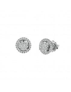 SALVINI orecchini in oro bianco 18kt con diamanti caratura 0.59kt