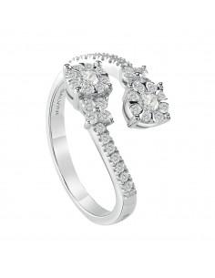 SALVINI anello in oro bianco 18kt con diamanti caratura 0.53kt