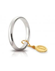 Fede matrimoniale Comoda UNOAERRE Oro Bianco gr. 4 mm. 3