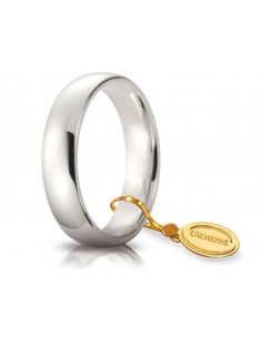 Fede matrimoniale Comoda UNOAERRE Oro Bianco gr. 7.5 mm. 5