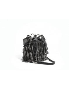 Secchiello LA CARRIE BAG Pirouettes Medio Tulle + Ecopelle | Black