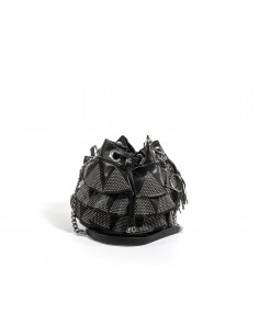 Secchiello LA CARRIE BAG Unforgettable Rouge Medio Ecopelle | Black