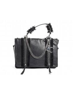 Shopper LA CARRIE BAG Slavery Large Ecopelle Bottalato | Black
