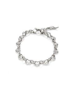 Bracciale argento Catena Cuori GIOVANNI RASPINI