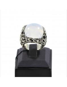 MARIA E LUISA anello mis.14 in argento con pietra taglio cuscino