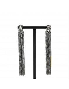 MARIA E LUISA orecchini in argento con catena forzatina