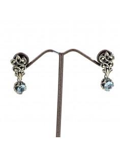 MARIA E LUISA orecchini in argento con elemento intarsiato