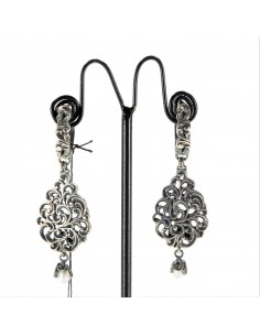 MARIA E LUISA orecchini in argento a goccia intarsiata