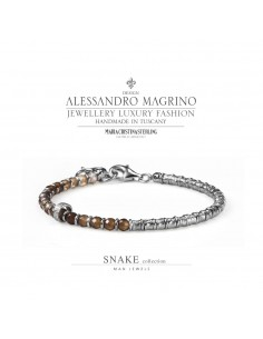 Bracciale Argento e agata marrone- M.C. Sterling