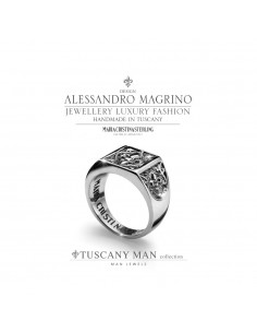 Anello Uomo Tuscany in Argento M.C. Sterling mis-24