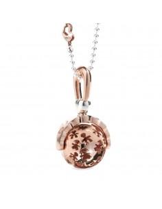 ciondolo sonaglini SUONAMORE di LE BEBE' in argento placcato oro rosa