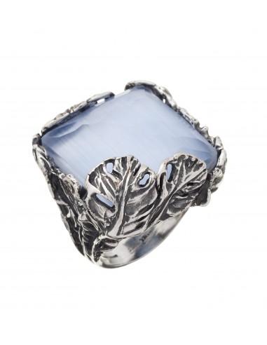 anello argento piume doublette sky Giovanni Raspini