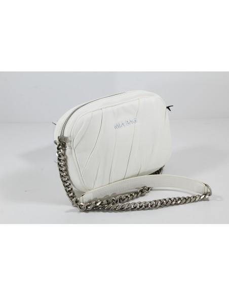 MIA BAG Tracolla zip Plissè - Bianco