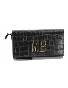 MIA BAG portafoglio Lux cocco - Nero