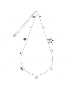 Collana Kurshuni in argento rosato Multi Star 85 cm