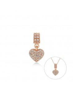 Charm Kurshuni in argento rosato Corazon