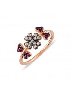 Anello Kurshuni in argento 925 rosato - Nature - misura 54