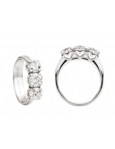 anello trilogy ANNIVERSARY RECARLO kt. 0,15 diamanti e oro bianco