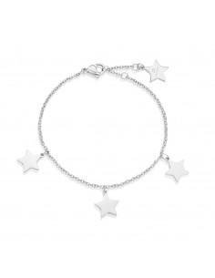 Luca Barra - Bracciale in acciaio anallergico con stelle