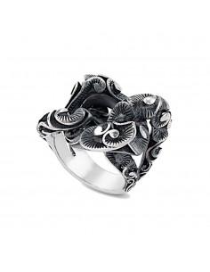 MARIA E LUISA anello in argento grande groumette mis. 15